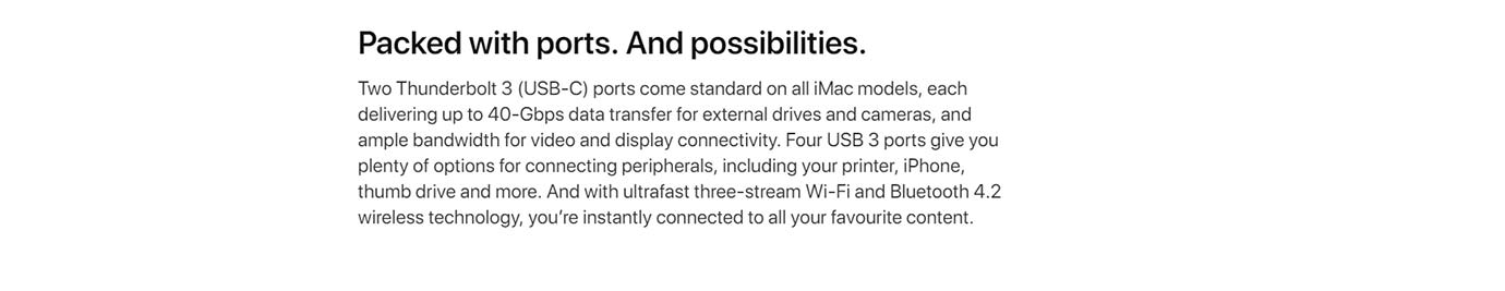 Packed with ports. And possibilities.