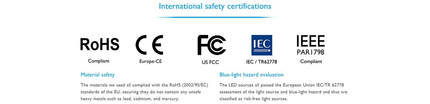International safety certifications