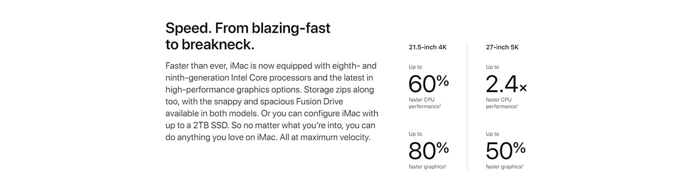Speed. From blazing-fast to breakneck.