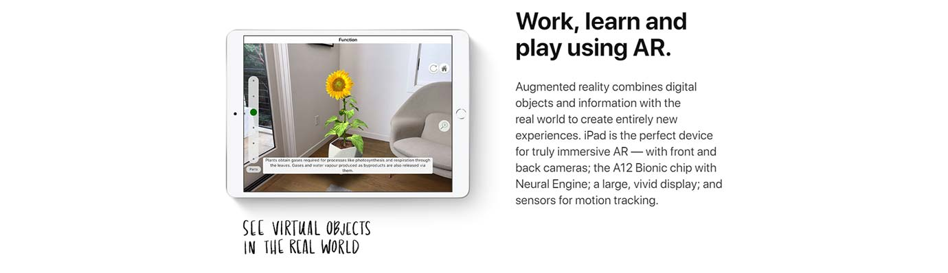 Work, learn and play using AR