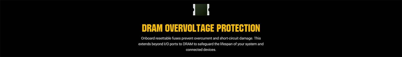 DRAM OVERVOLTAGE PROTECTION