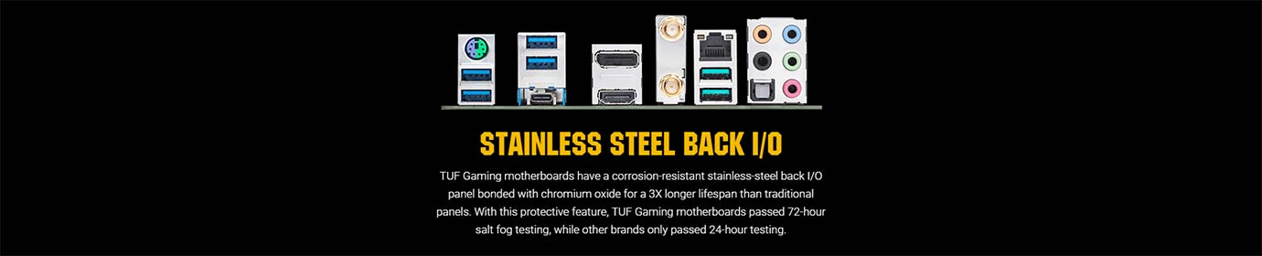 STAINLESS STEEL BACK I/O