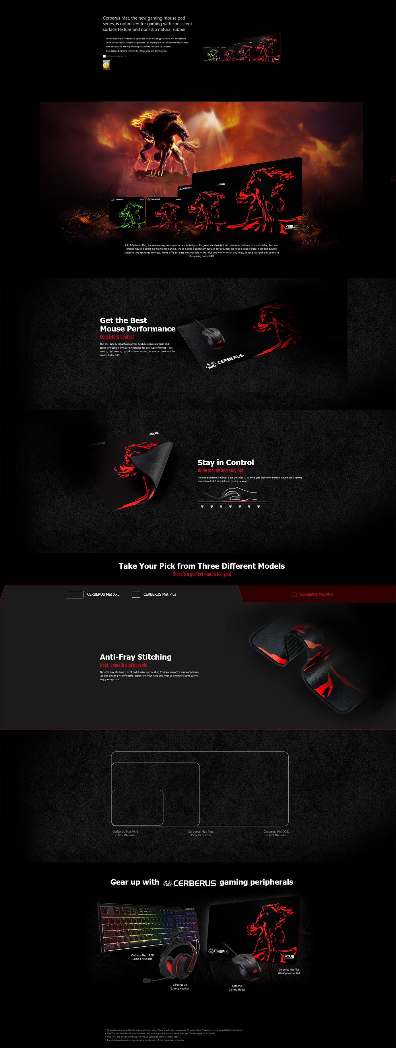 ASUS Cerberus Gaming Mouse Mat