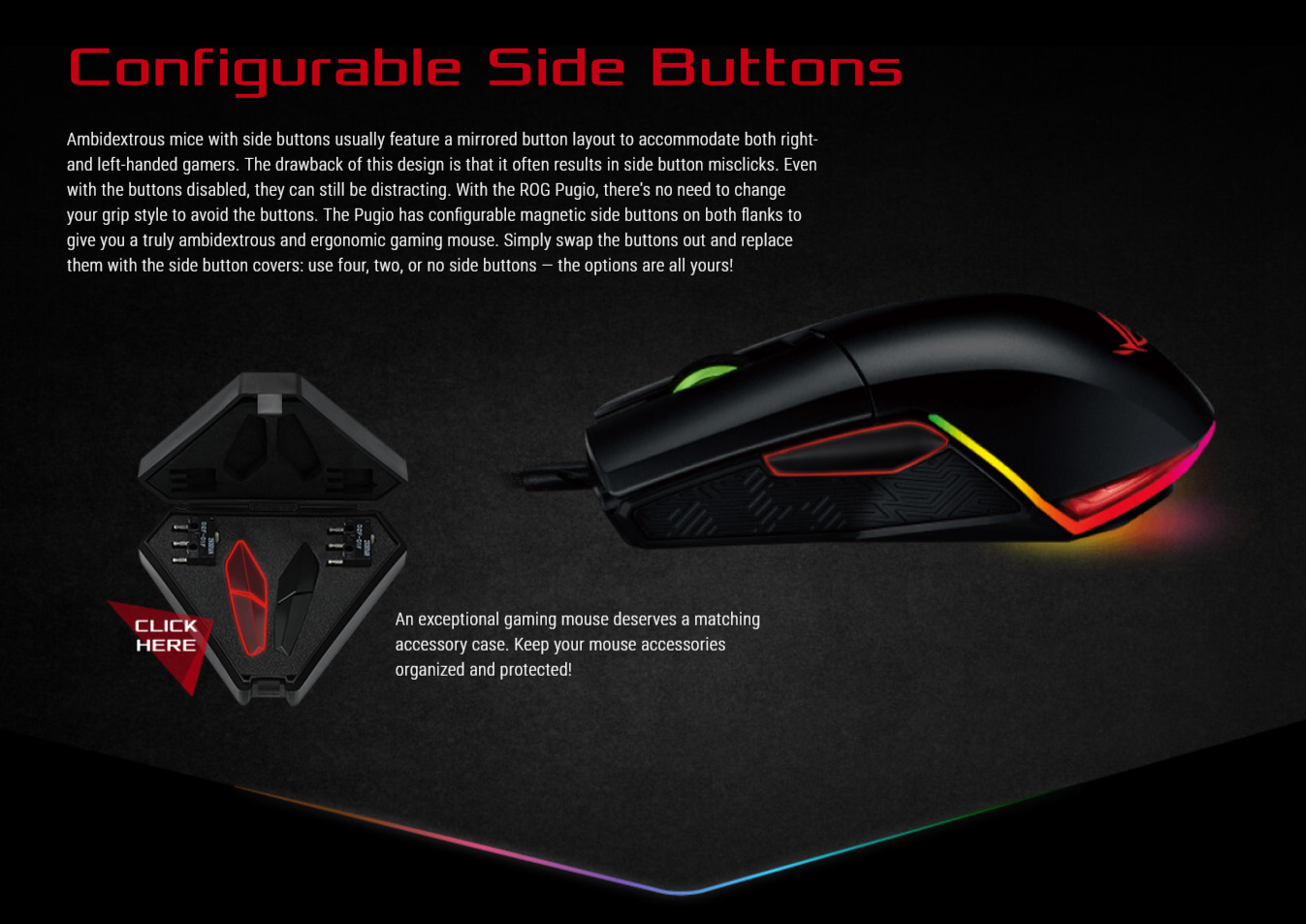 Asus ROG Pugio RGB Gaming Mouse