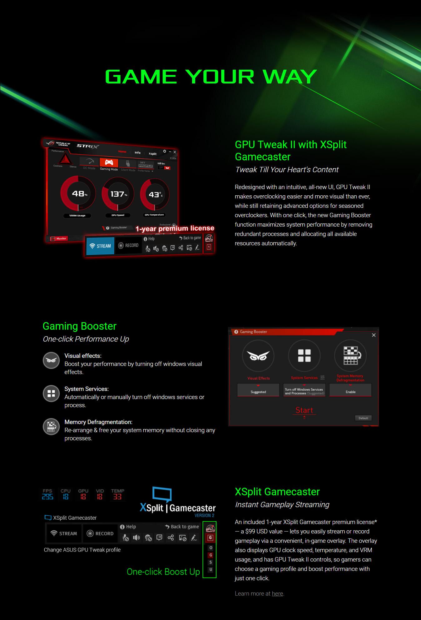 Asus Strix GTX 1060 OC Features