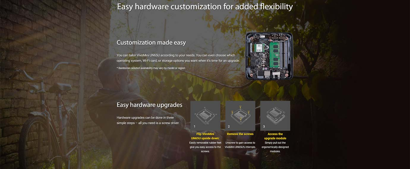Easy hardware customization for added flexibility