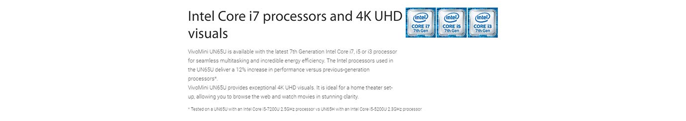 Intel Core i7 processors and 4K UHD visuals
