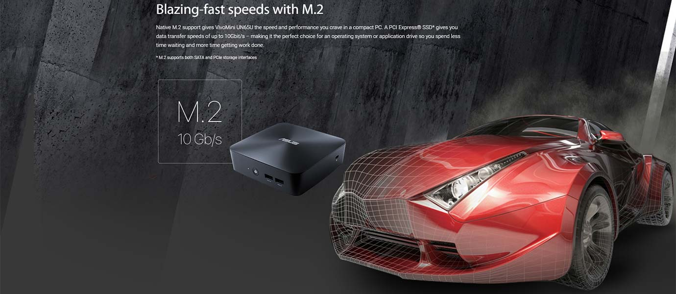 Blazing-fast speeds with M.2