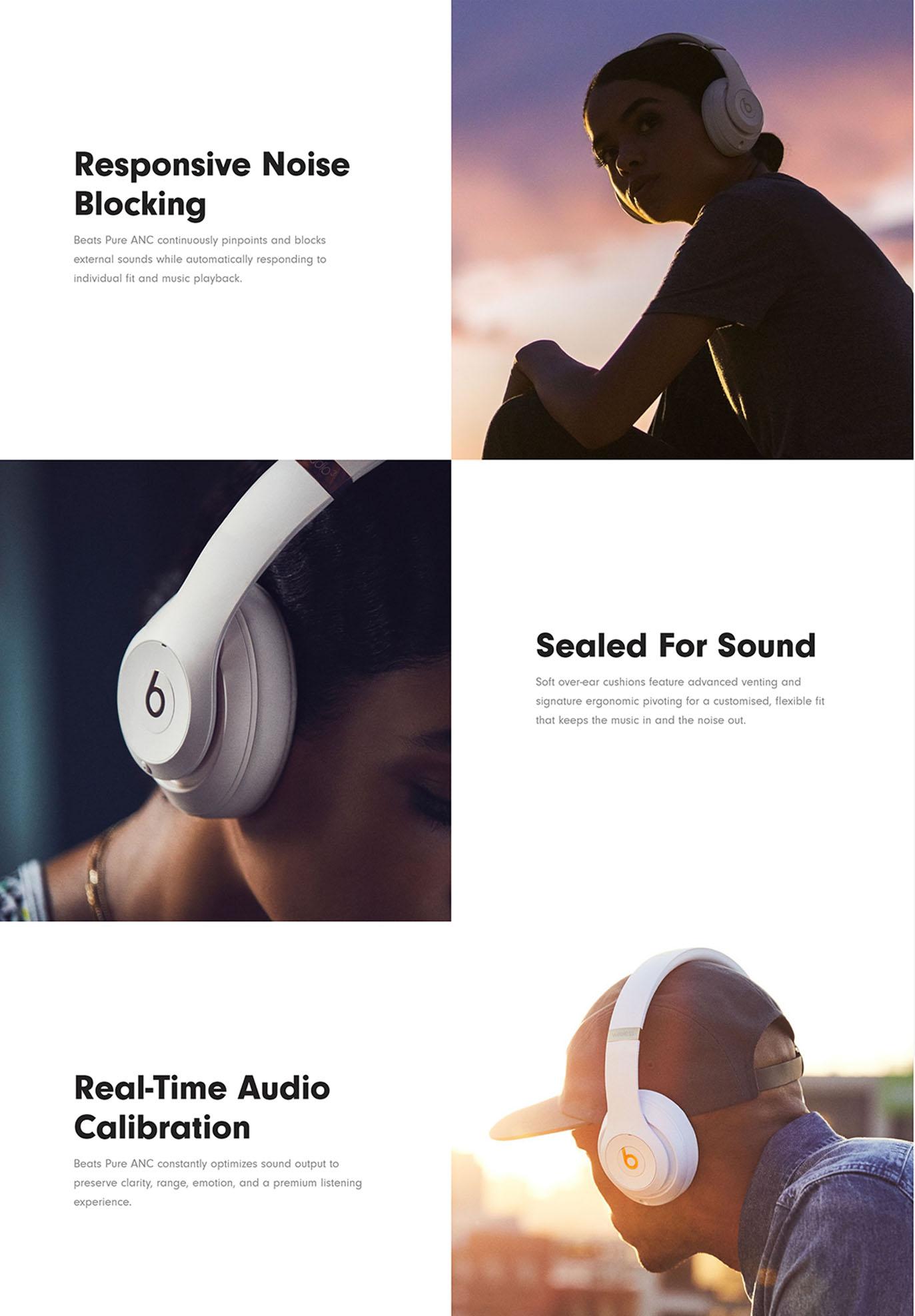 Beats Studio3 Wireless Over‑Ear Headphones - Shadow Grey