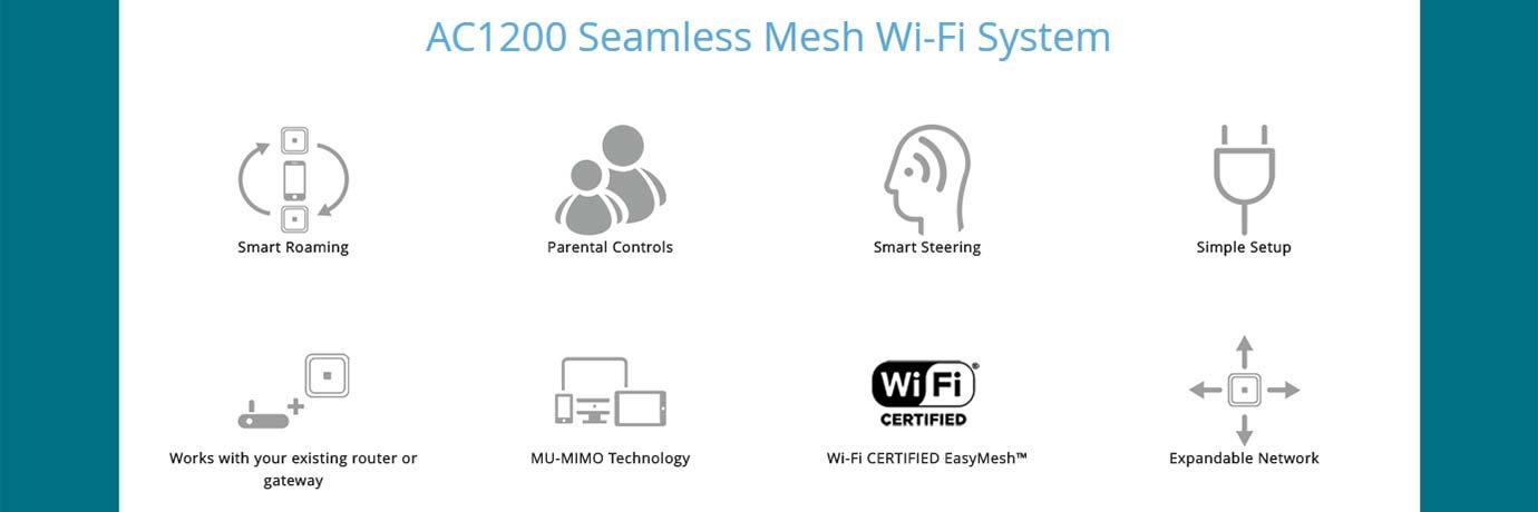 AC1200 Seamless Mesh Wi-Fi System