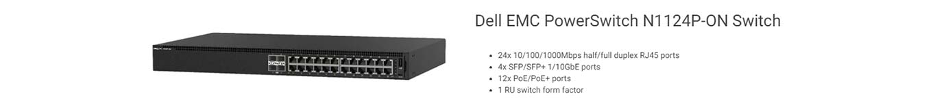 Dell EMC PowerSwitch N1124P-ON Switch
