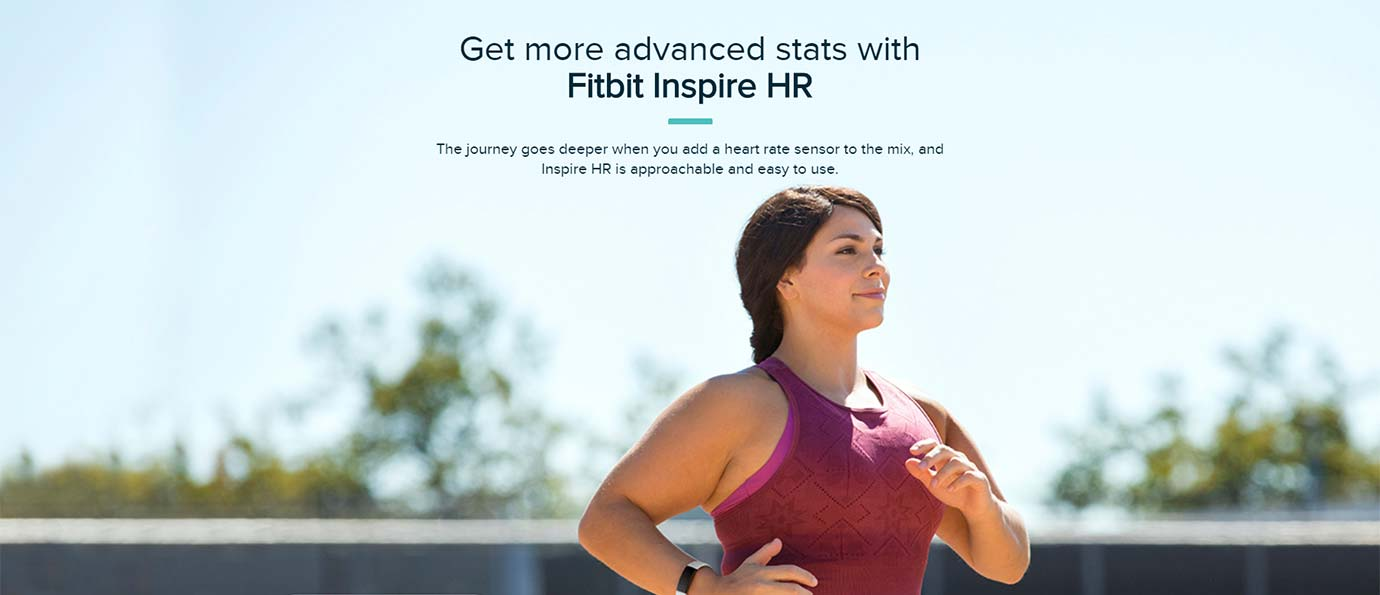Get more advanced stats with Fitbit Inspire HR