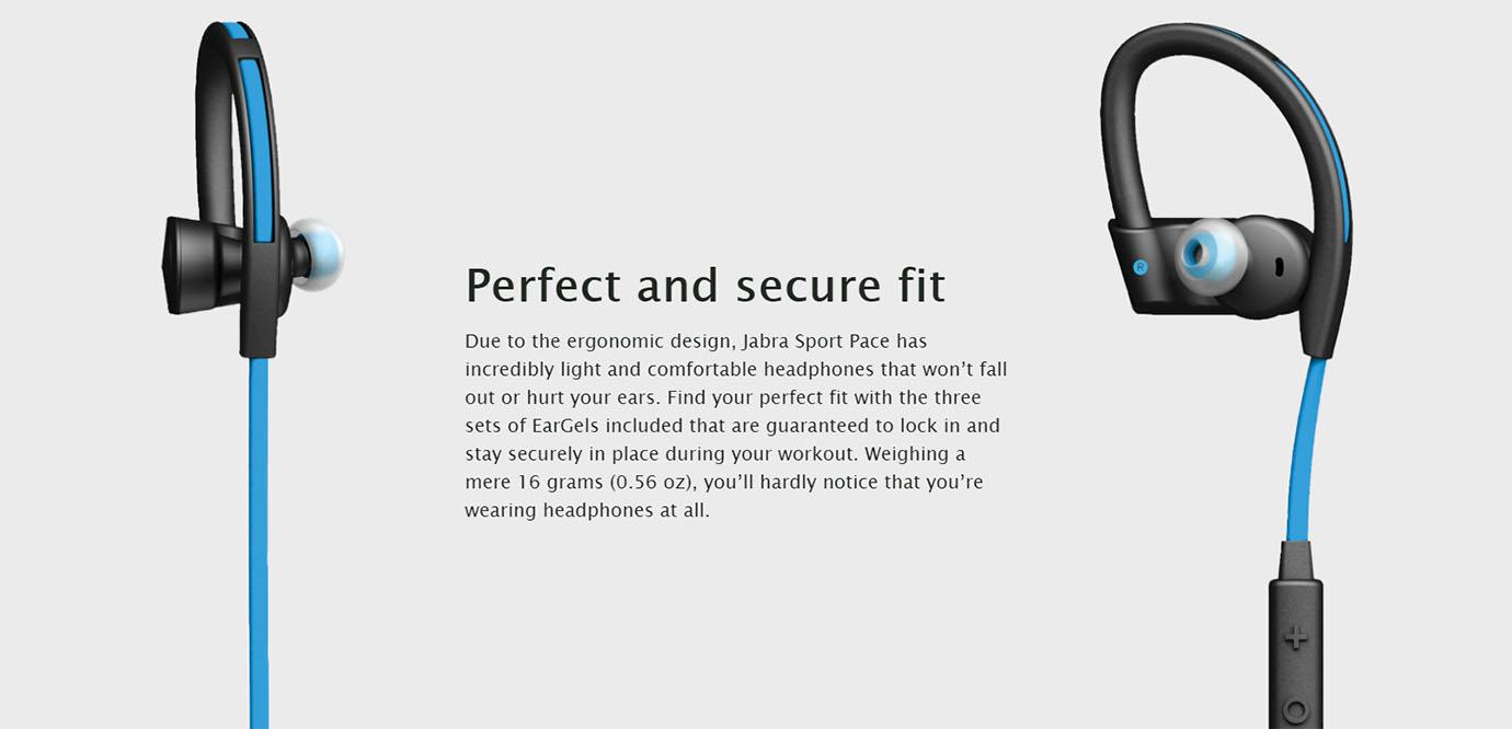 Jabra Sport Pace Bluetooth Earbuds Blue