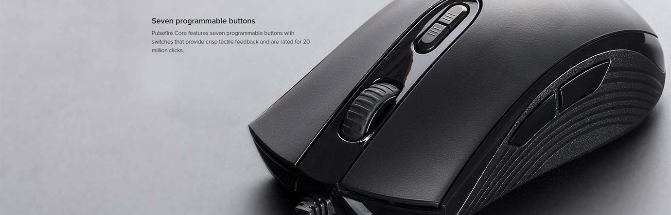 Seven programmable buttons
