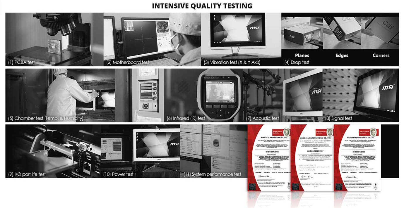INTENSIVE QUALITY TESTING