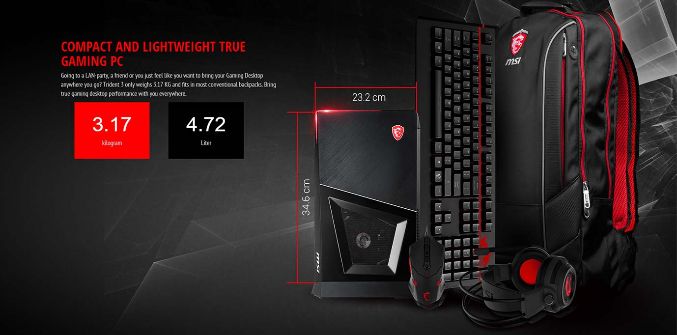 COMPACT AND LIGHTWEIGHT TRUE GAMING PC