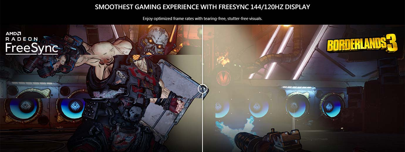 SMOOTHEST GAMING EXPERIENCE WITH FREESYNC 120HZ DISPLAY