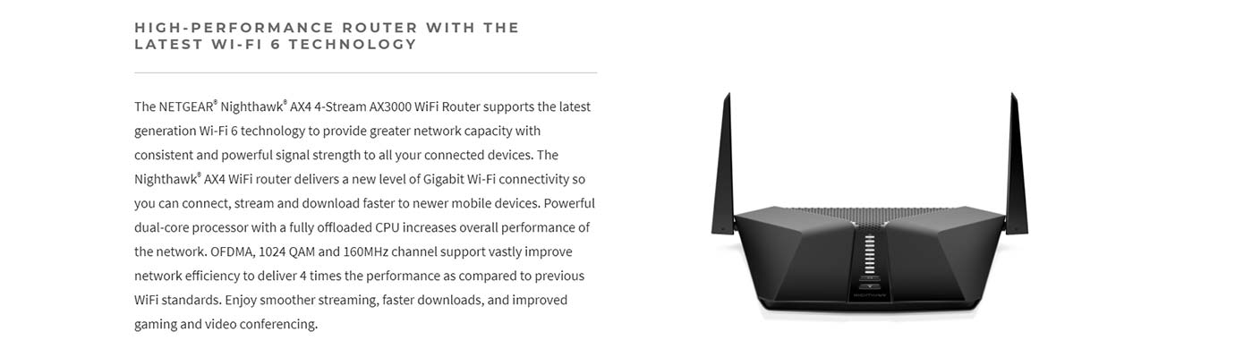 HIGH-PERFORMANCE ROUTER WITH THE LATEST WI-FI 6 TECHNOLOGY