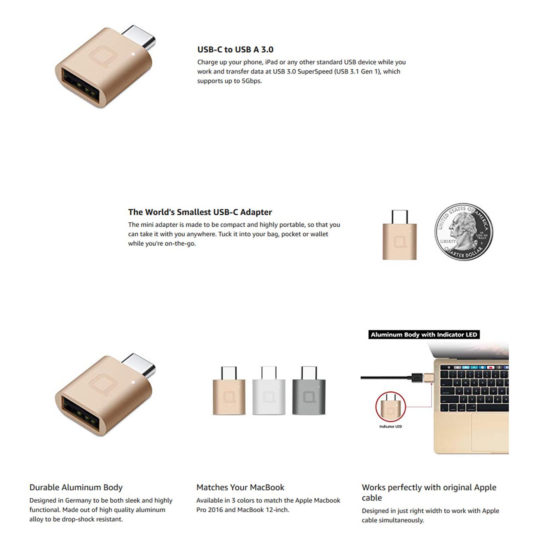 Nonda USB-C adapter description