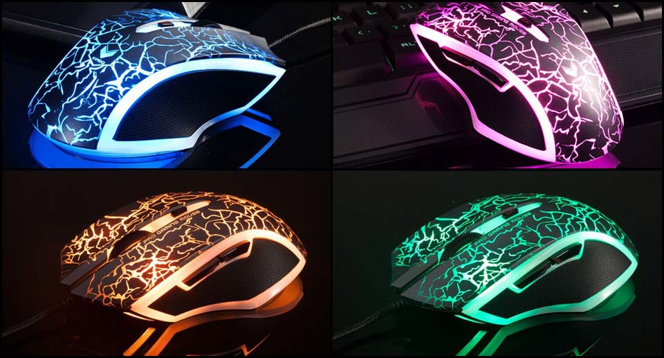Rapoo V20 RGB Lightning Black Optical Gaming Mouse
