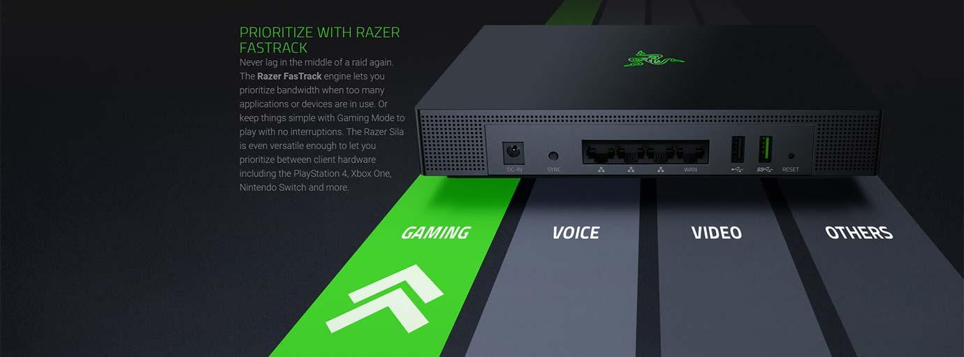 Razer Sila - Prioritize with Razer Fasttrack