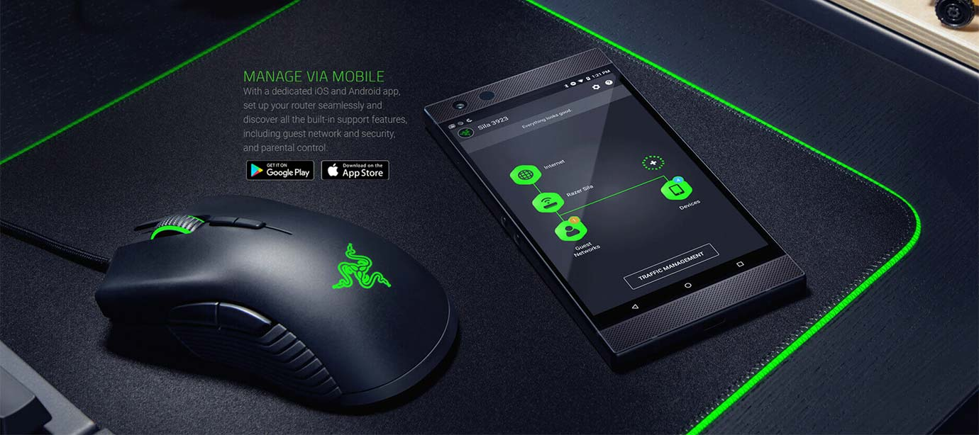 Razer Sila - Manage via mobile app