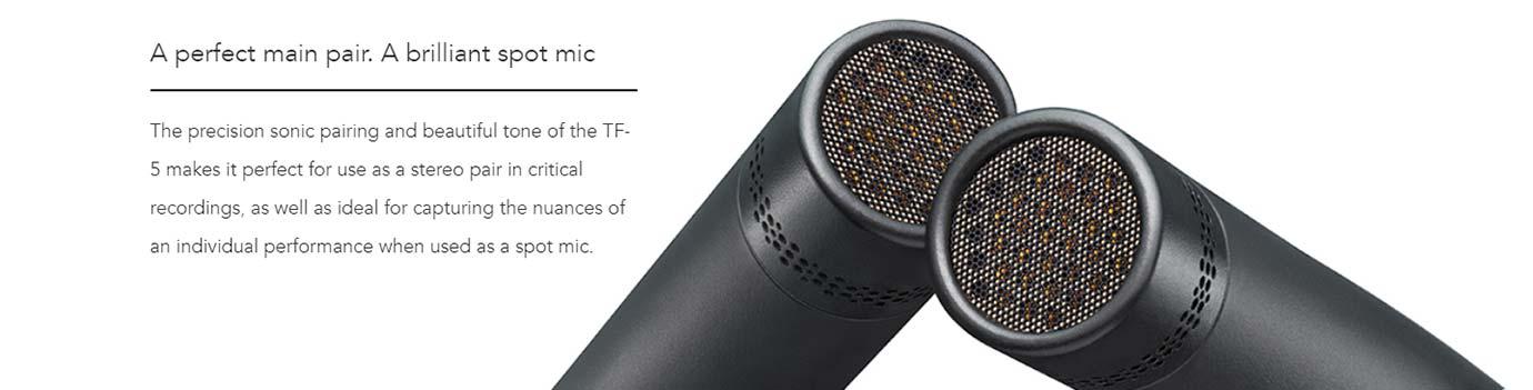 A perfect main pair. A brilliant spot mic