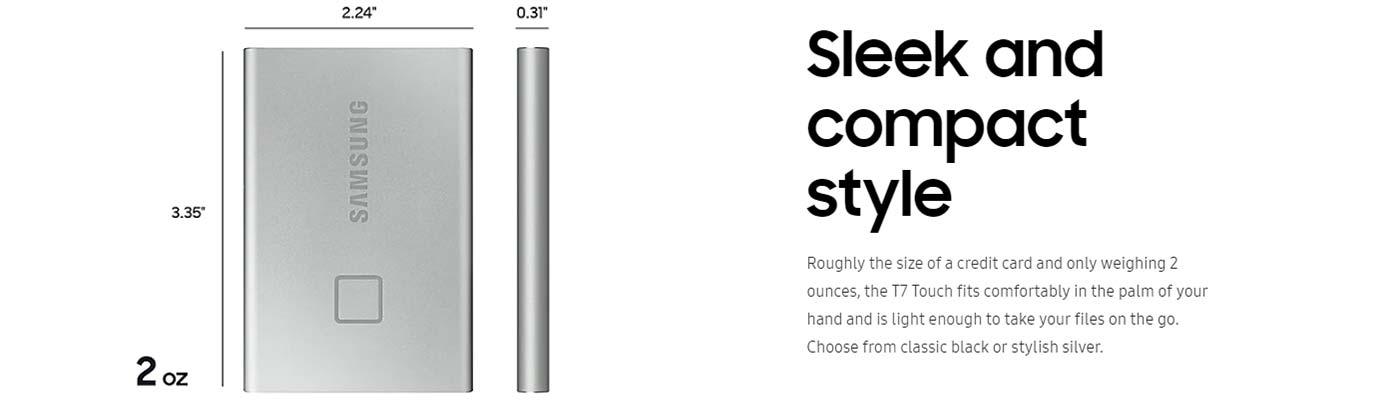 Sleek and compact style