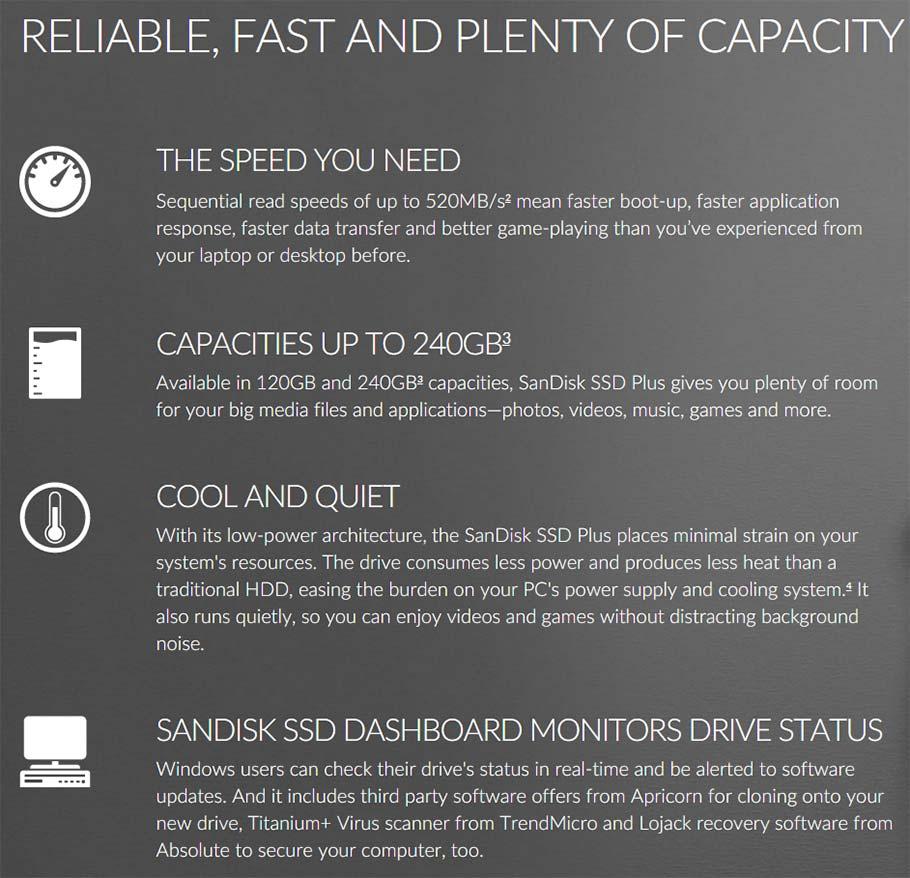 SanDisk SSD Plus 240GB SATA 3 Storage