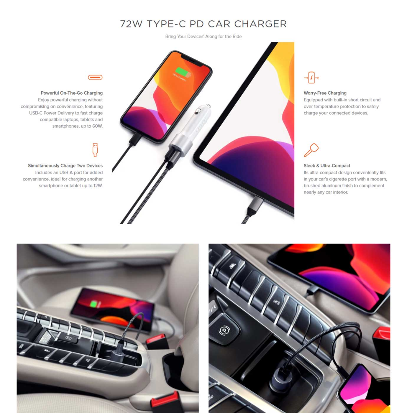 72W Car Charger