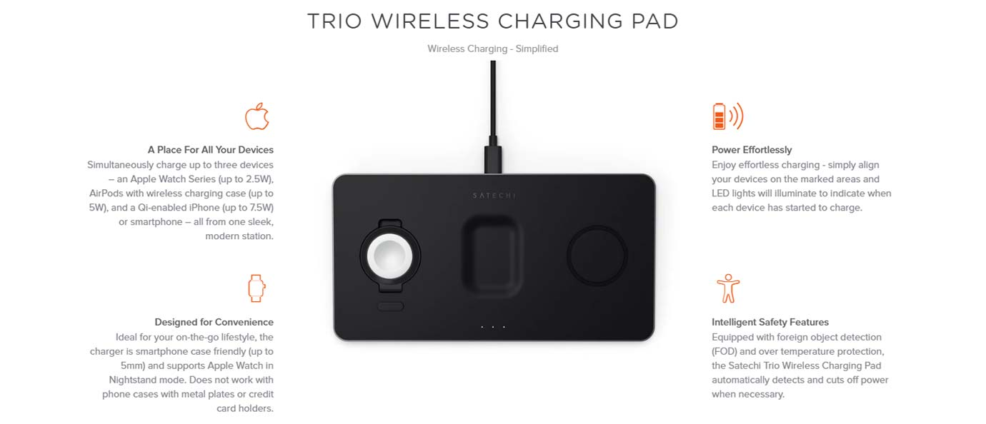 TRIO WIRELESS CHARGING PAD