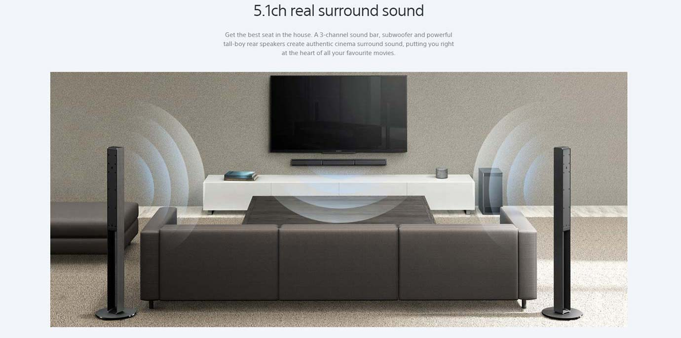 5.1ch real surround sound