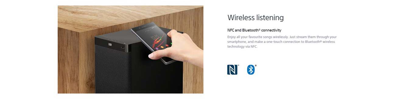 NFC and Bluetooth® connectivity