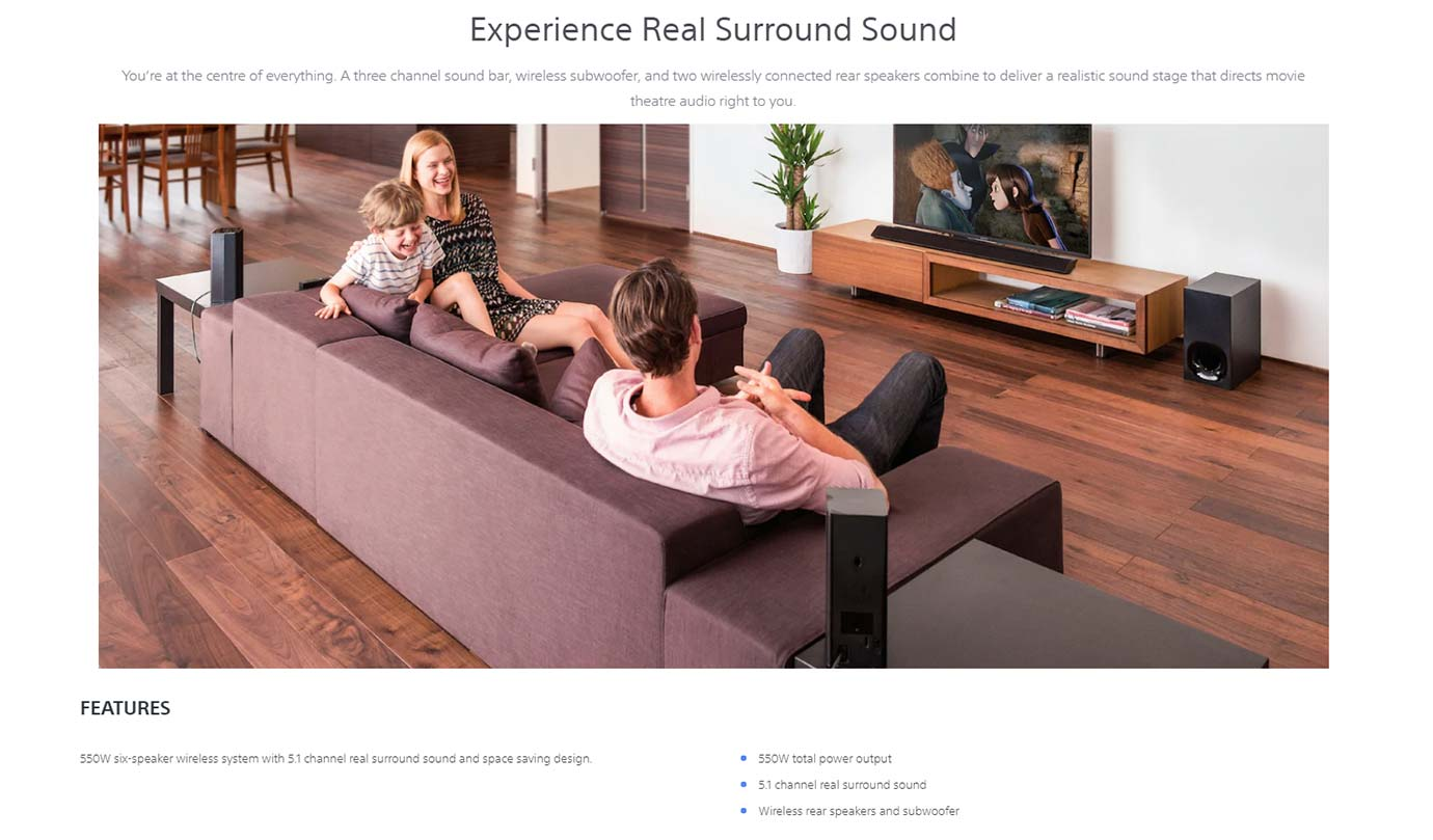 Experience Real Surround Sound