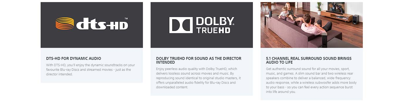 DTS-HD FOR DYNAMIC AUDIO