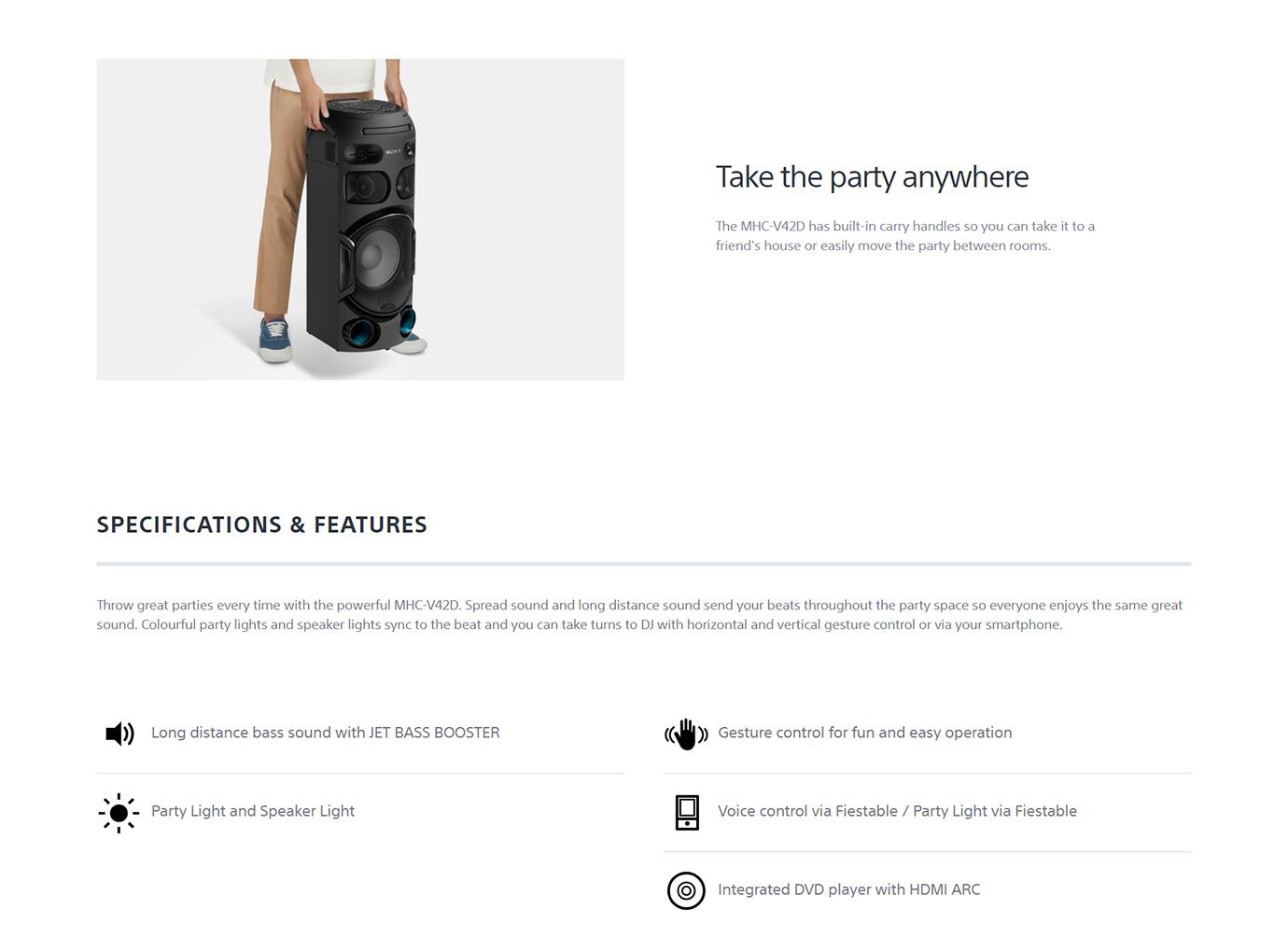 Sony MHC-V42D Wireless Speaker System