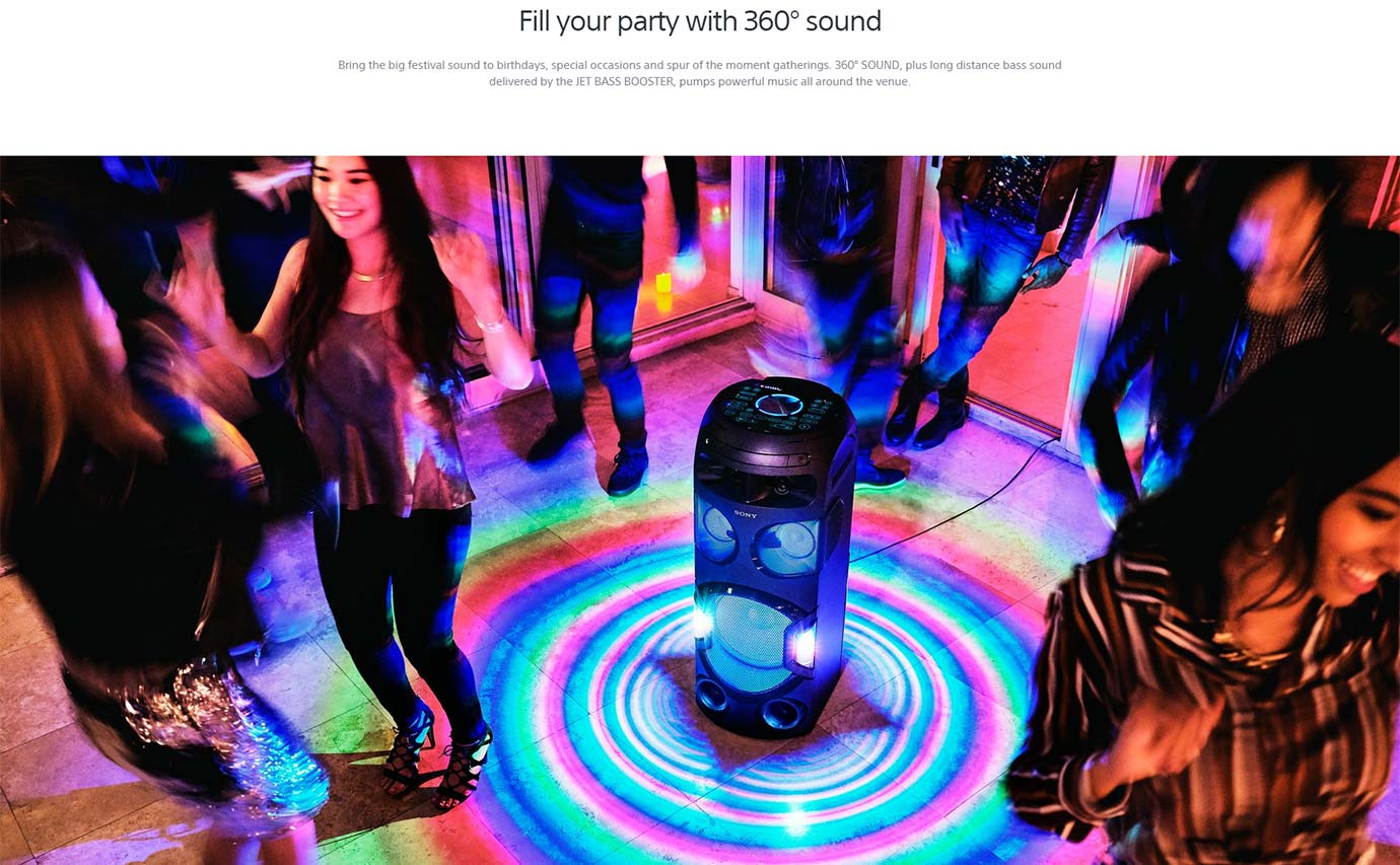 Fill your party with 360° sound
