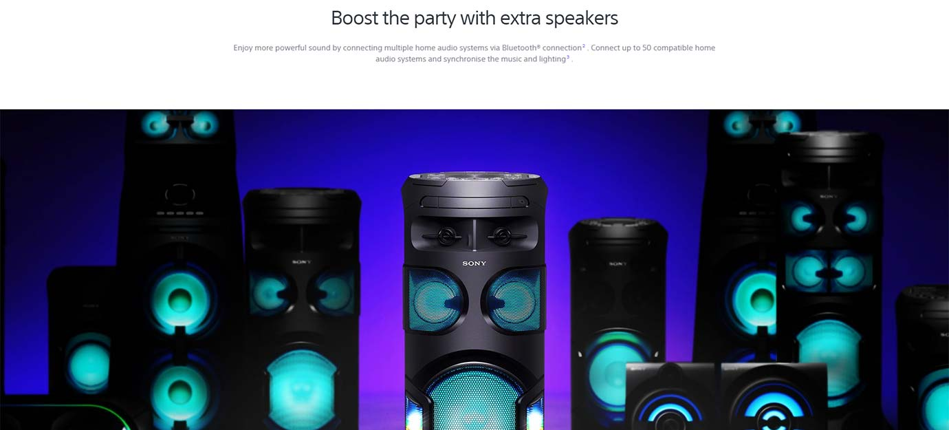 Boost the party with extra speakers