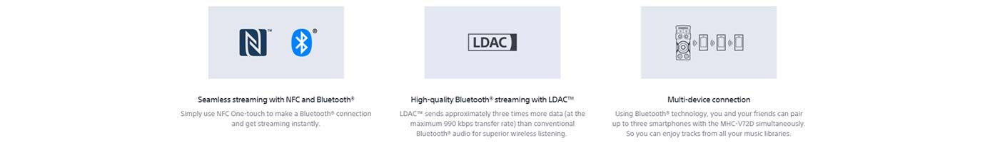 Seamless streaming with NFC and Bluetooth®