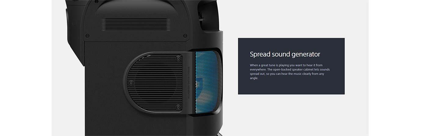 Spread sound generator