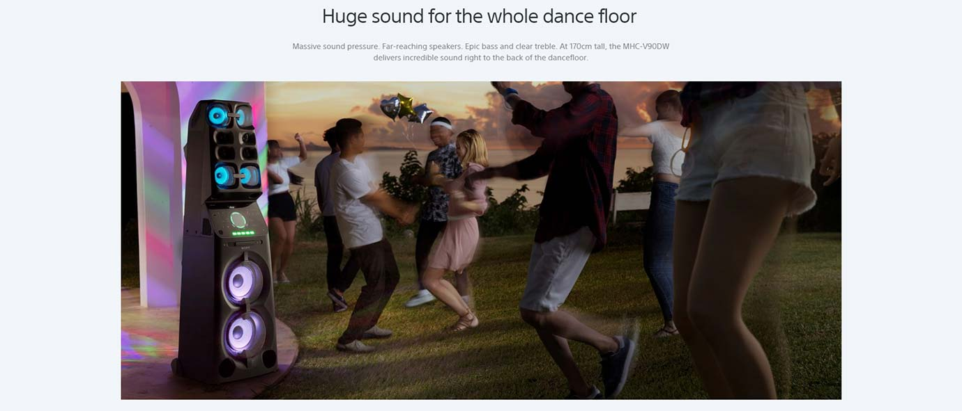 Huge sound for the whole dance floor