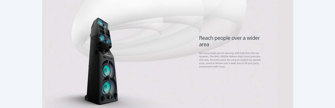 Reach people over a wider area