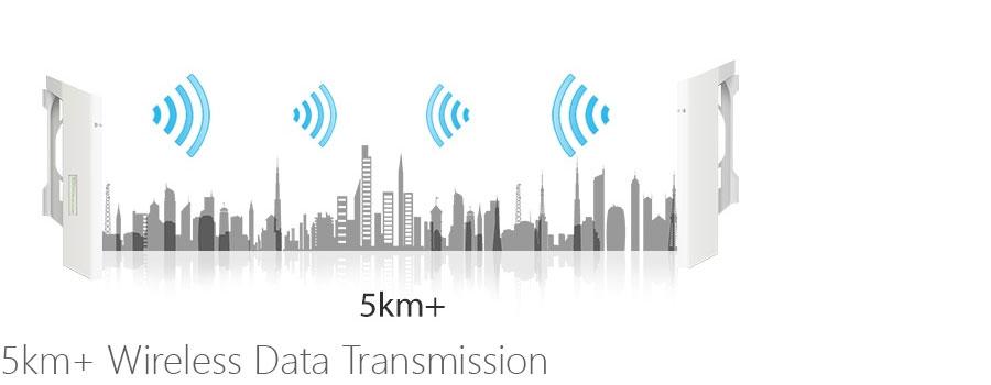 5km+ Wireless Data Transmission