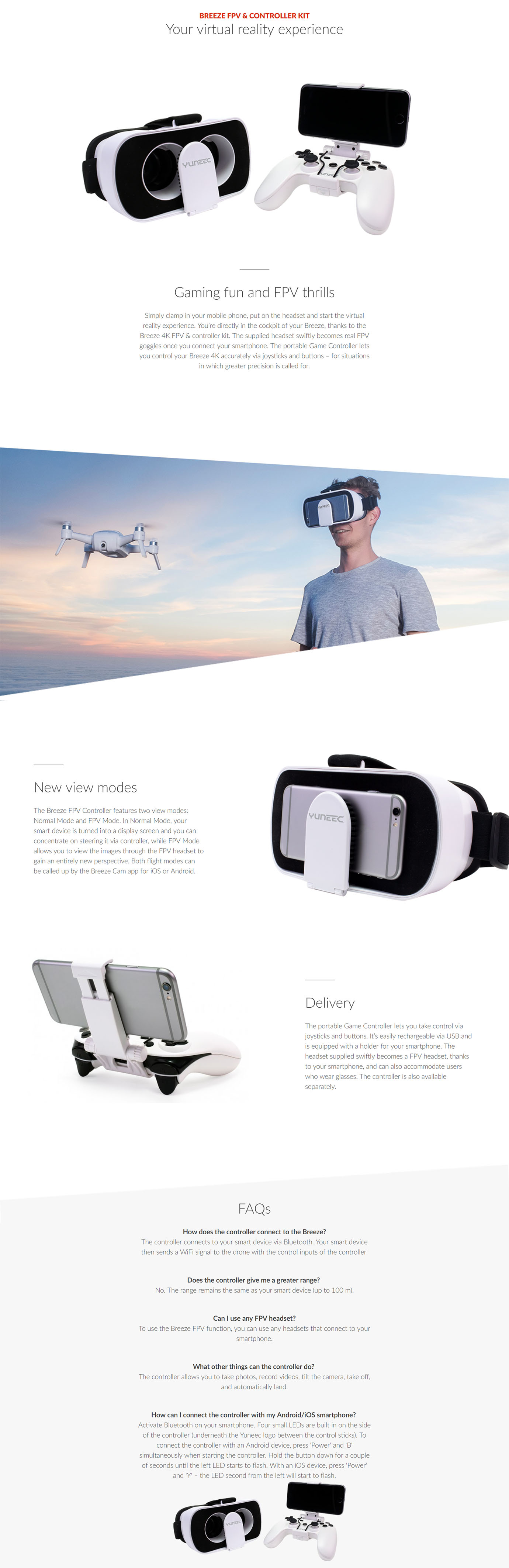 Yuneec FPV Controller for the Yuneec Breeze 4K Quadcopter drone