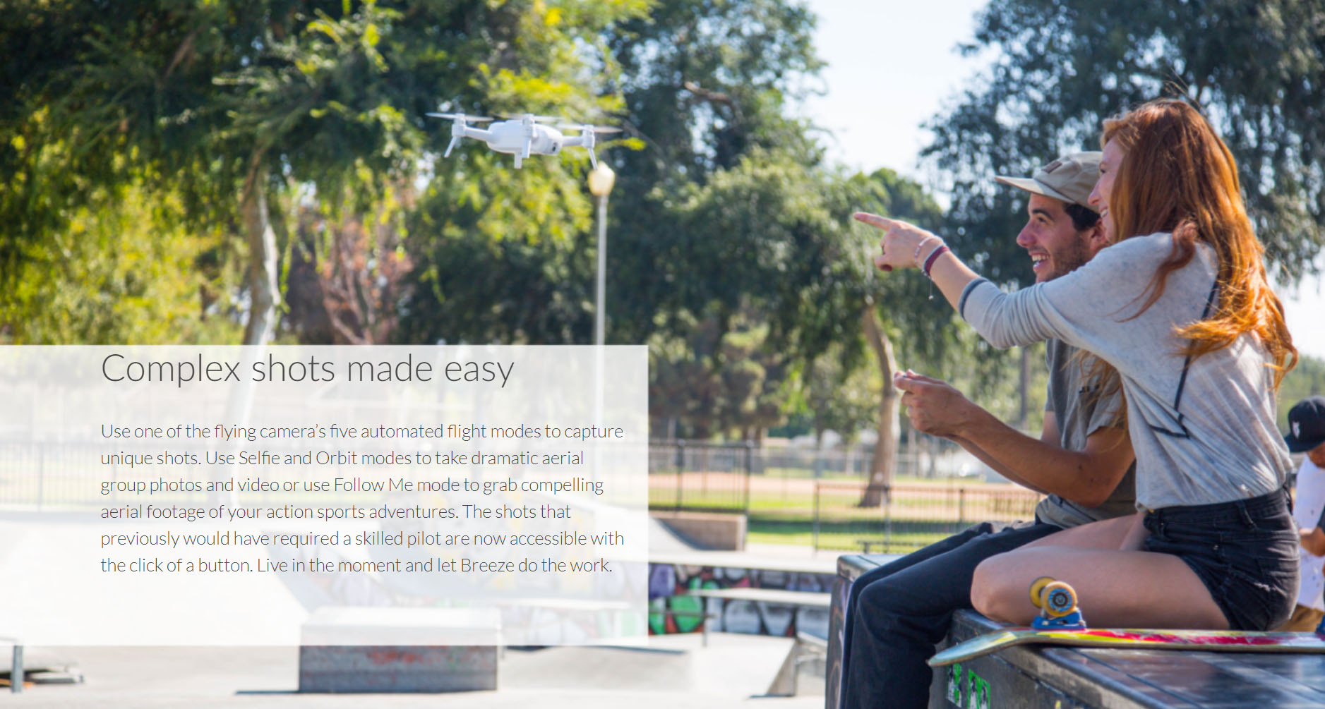 Yuneec Breeze Five Automated Flight Modes