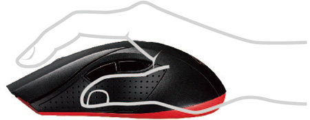Asus Cerberus Ambidextrous Gaming Mouse 90YH00Q1-BAUA00 Improved Rubber Side Grips