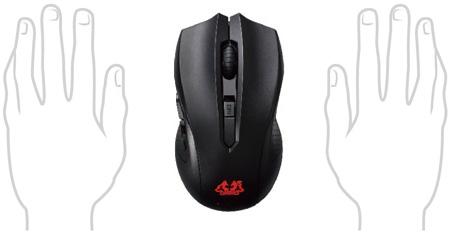 Asus Cerberus Ambidextrous Gaming Mouse 90YH00Q1-BAUA00 Stylish Ambidextrous Design