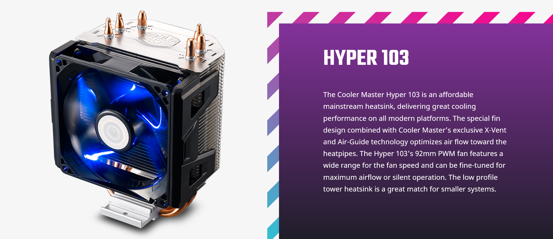 Cooler Master Hyper 103 RR-H103-22PB-R1 Intro