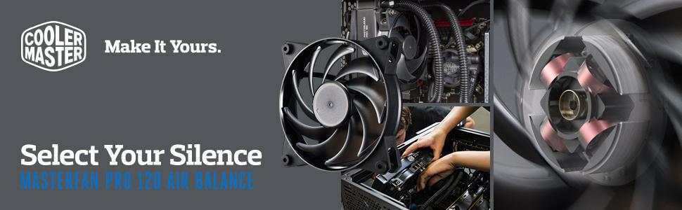 Cooler Master MasterFan Pro 120 MFY-B2NN-13NMK-R1 Select your Silence