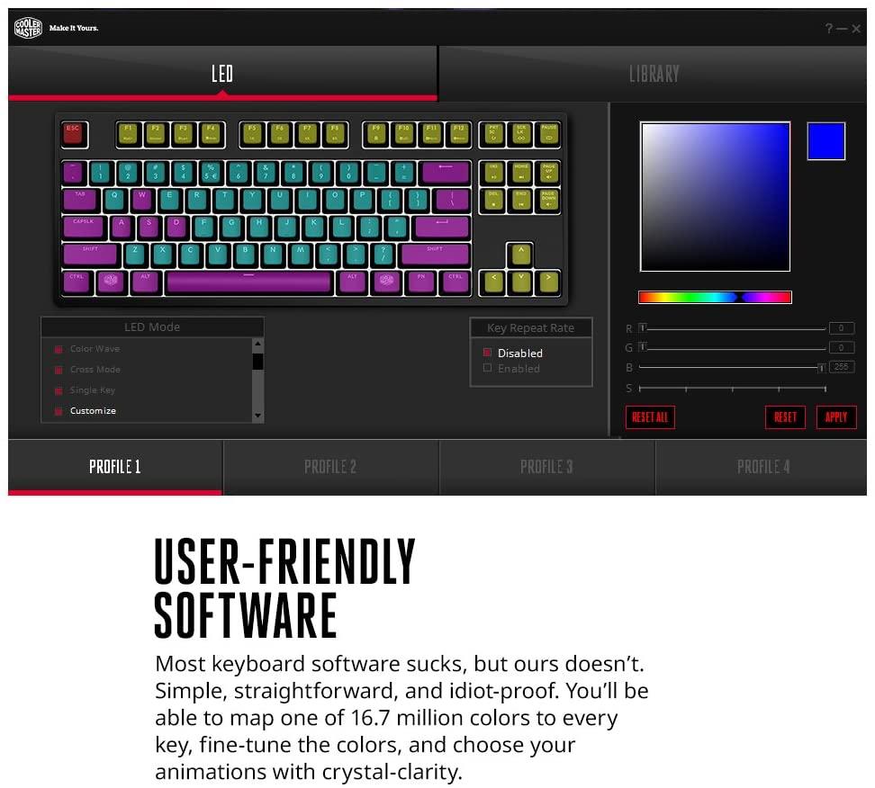 Cooler Master MasterKeys Pro M RGB SGK-6040-KKCR1-US Easy to use software